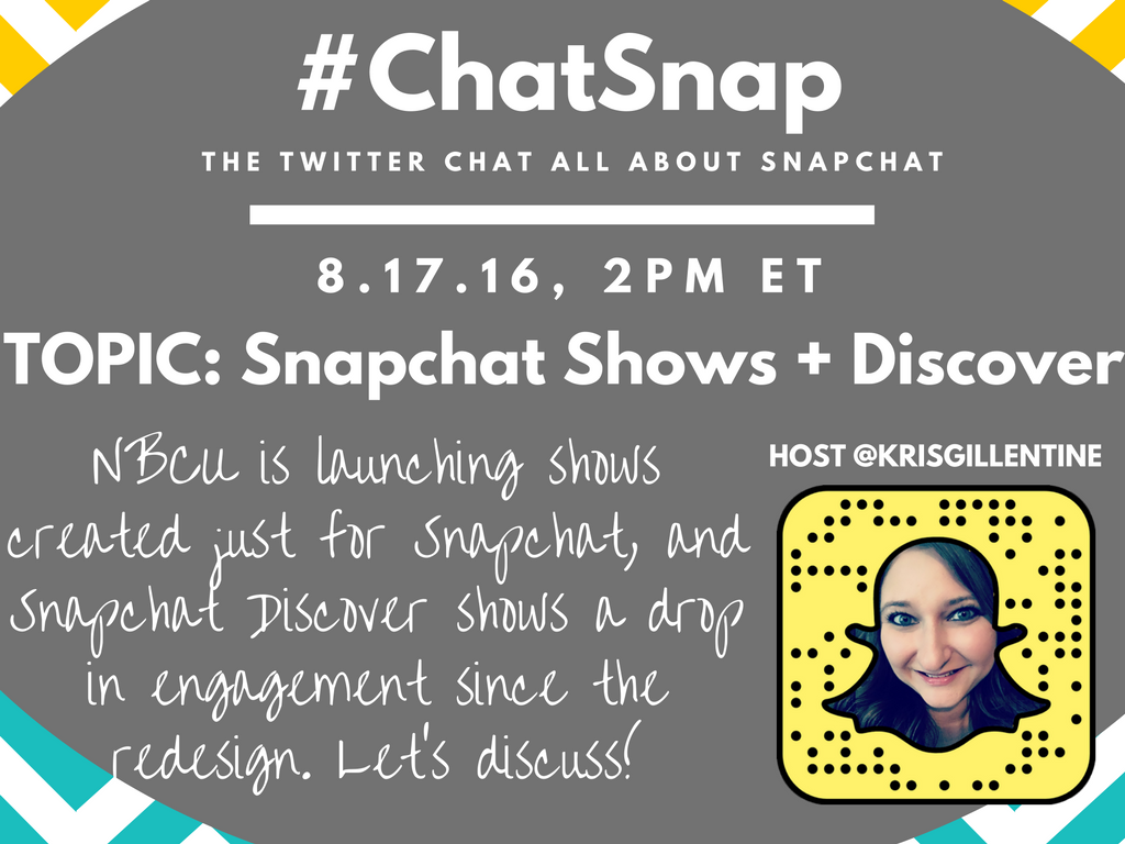 Happy #ChatSnap Day! Hope to see you at 2pm ET! Here's a look at today's topic. @TheEricaBlair https://t.co/Ced17UFCbd