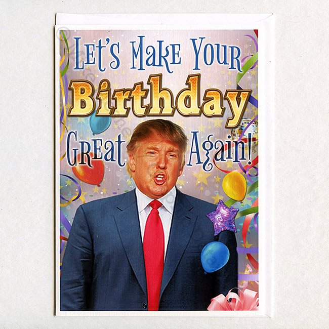 "Hillary Clinton Meme On Twitter: ""#trumpcartoons Donald Trump ""Let's Make Your Birthday Great"