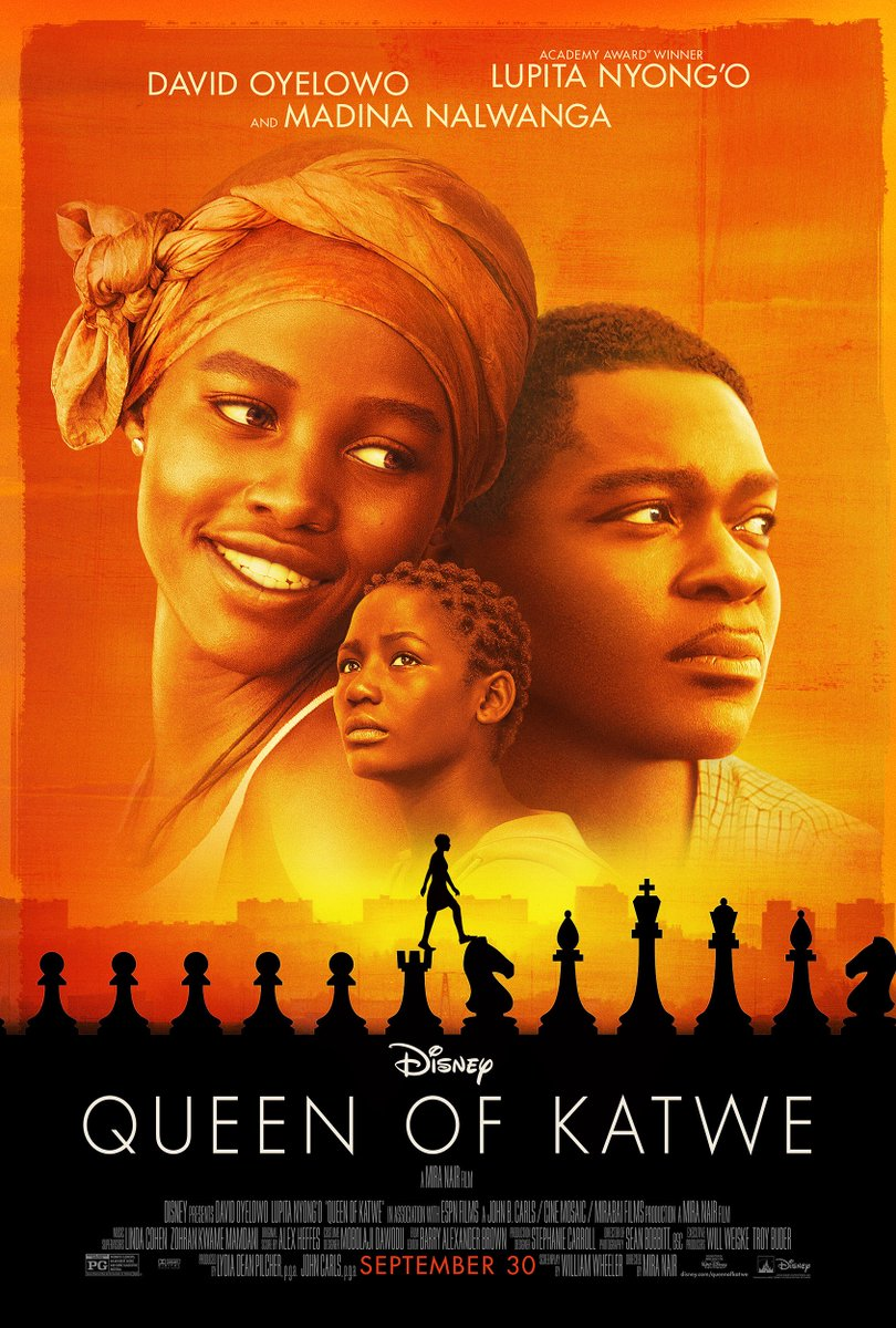 Checkmate! Thrilled to share the new @QueenOfKatwe poster! #ComingSeptember #CantWait #PhionaMutesi @DisneyStudios