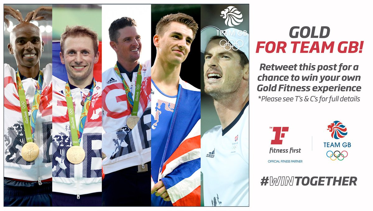 Gold Rush! Congratulations @TeamGB! RT to win #WinTogether https://t.co/0eFh62fMmU https://t.co/R5Coc0wged
