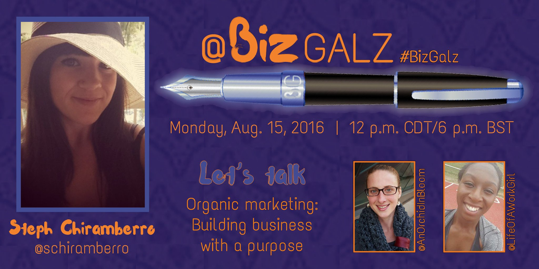 Join us in ONE HOUR to talk #OrganicMarketing with @schiramberro on #BizGalz! https://t.co/0bj4ctwrTF