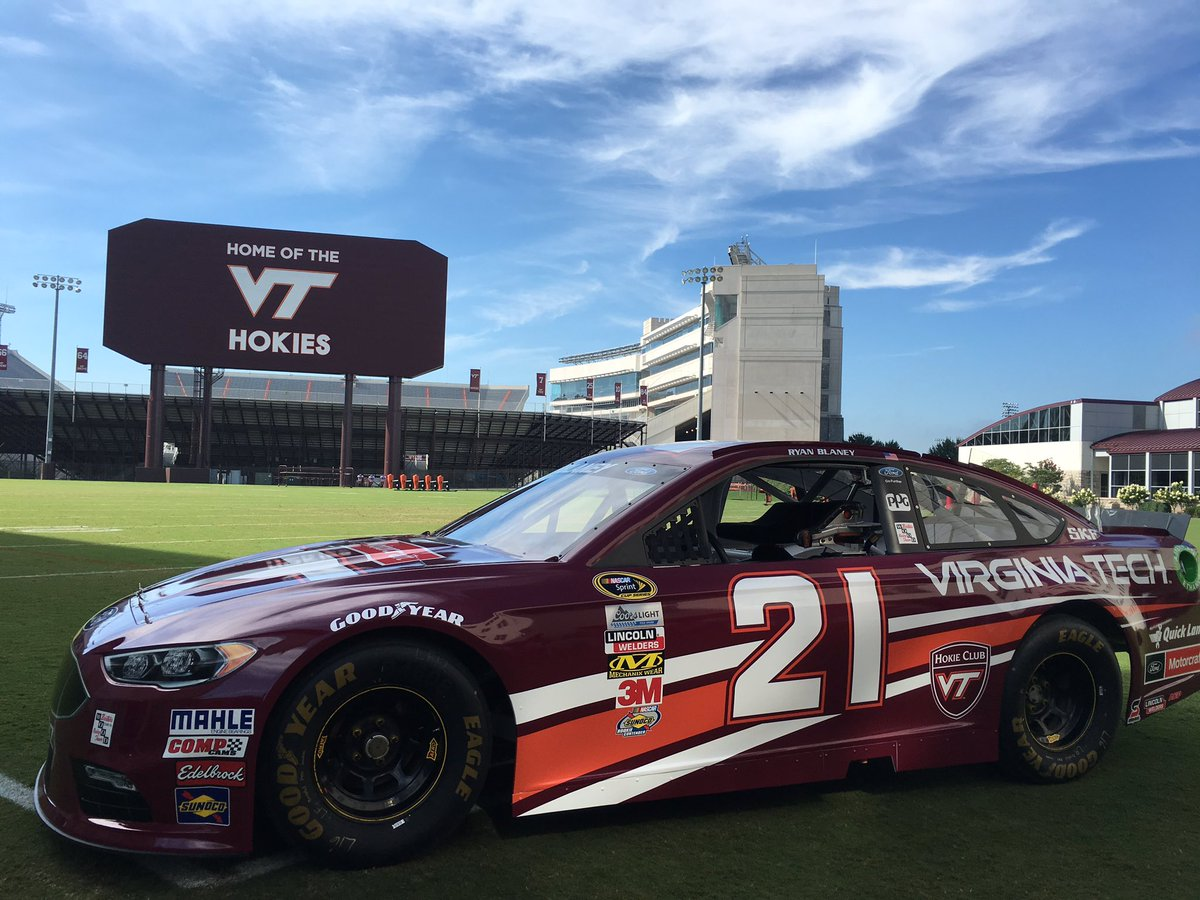 Ryan Blaney On Twitter Pretty Cool To Have Vt On Our Car For The