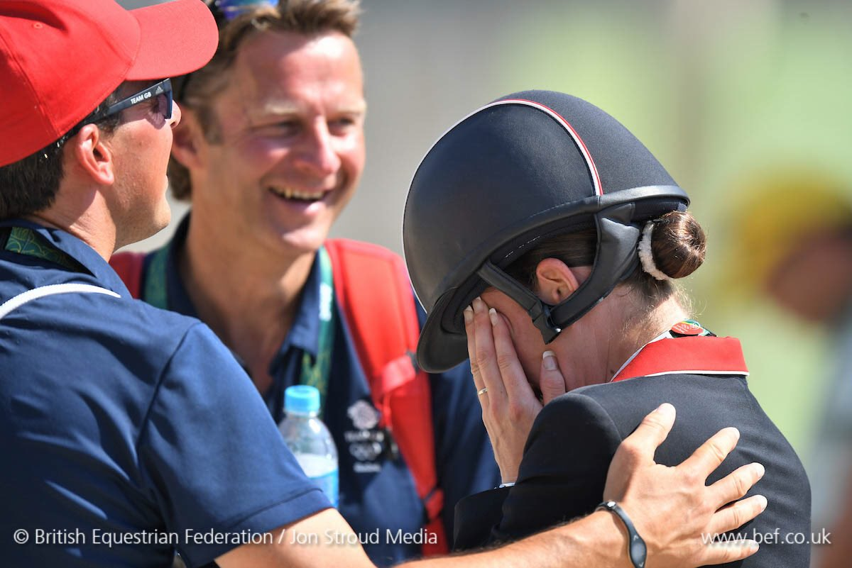 THEY DID IT! It's #Gold! @CSJDujardin + Valegro are #EquestrianDressage #Olympics CHAMPIONS once again!