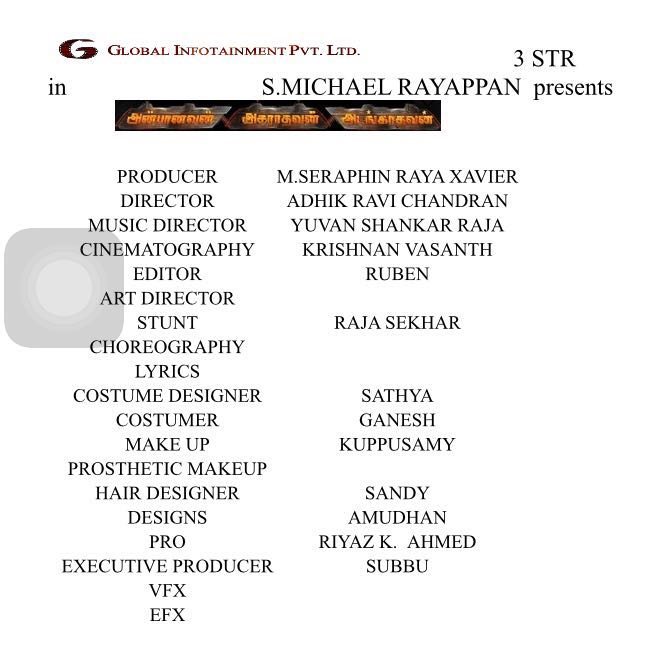 Aaafilm Cast Crew List With My Name Happy Proud To Style Iam Str Sincere Thanks Adhikravi Sirappupictwitter 3I9bkumZ78