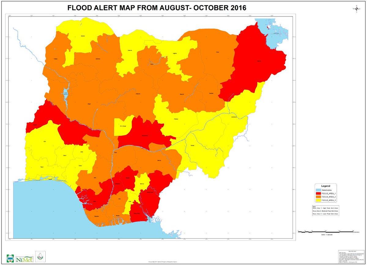 Flood Alert Map NEMA Nigeria on Twitter: