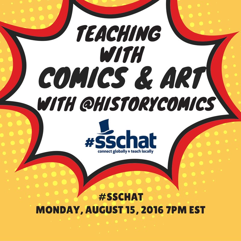 My tweets for the next hour - come join us at #sschat if you want education and comics to mix https://t.co/oHACDL64LC