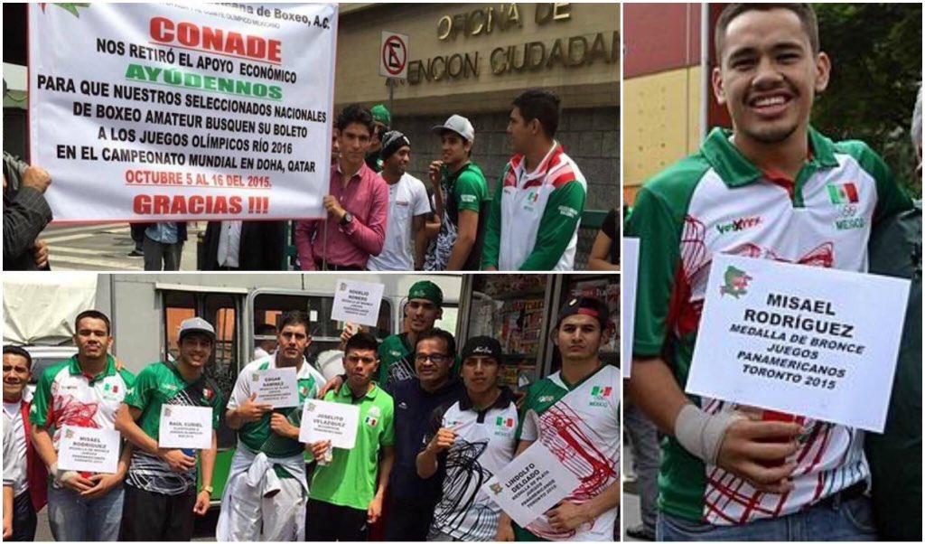 El año pasado Misael Rodríguez estaba en las calles haciendo colecta  para ir a Qatar y buscar ir a #Rio2016 #Box   https://t.co/ohUQQy8nle