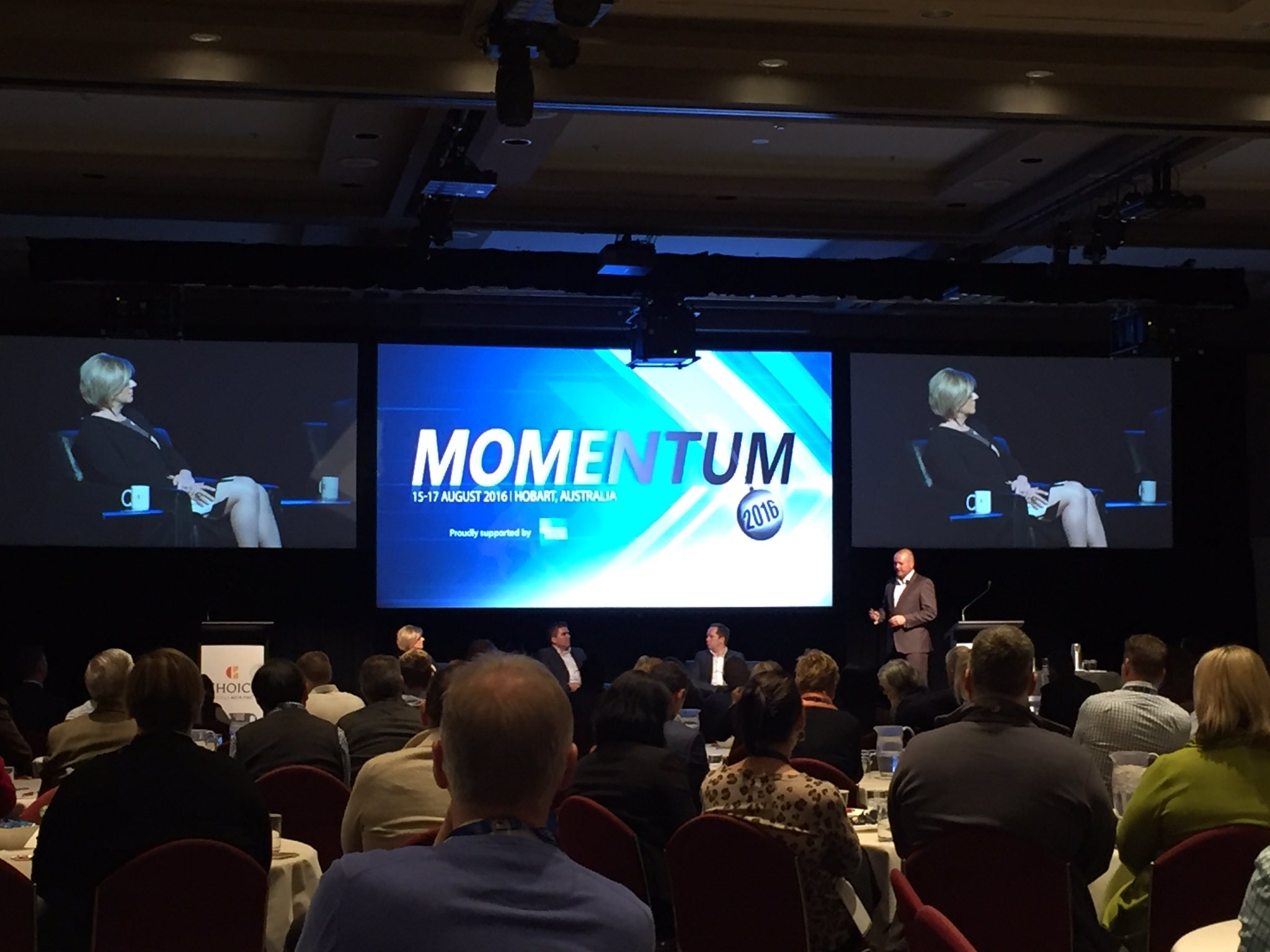 Great to be at @ChoiceHotels Annual  Conference in @tasmania the key theme: Momentum! @TourismAus https://t.co/80D1EIXDSE
