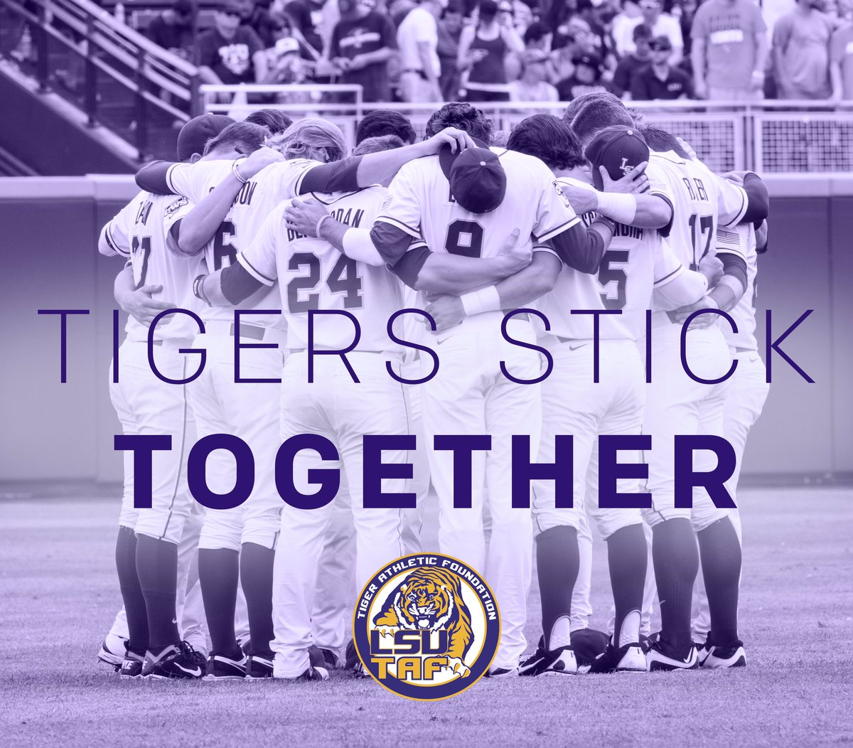 It's times like these that Tigers stick together!   Our hearts are heavy & our thoughts are with those impacted. https://t.co/LbTFG772Yn