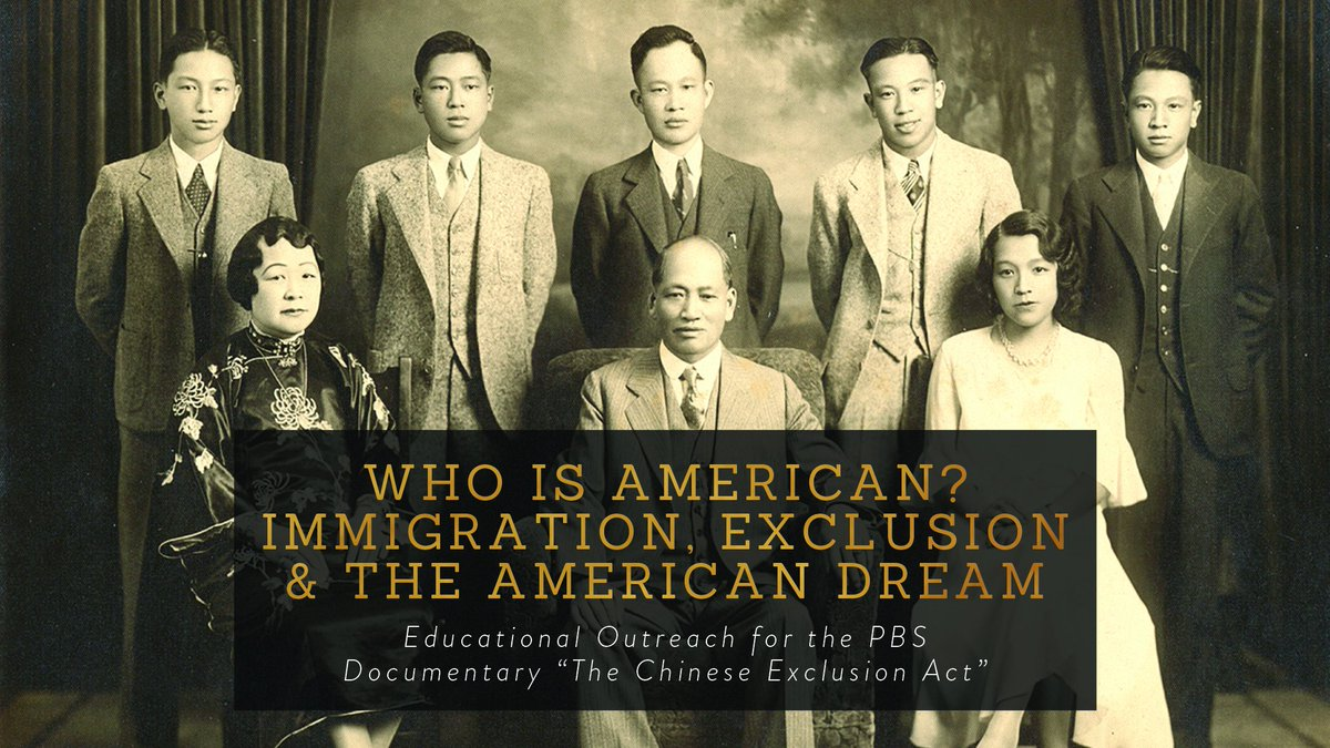 Help us w/educational outreach for new #ChineseExclusionAct doc! Donate today!https://t.co/QKRJl0dyfp #WhoisAmerican https://t.co/eztwNylFPz