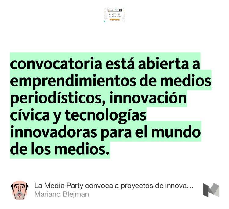 """Convocatoria abierta a emprendimientos de medios periodísticos""—@blejman https://t.co/jMd07MuijA #hhba https://t.co/oyXm5ZD3SX"