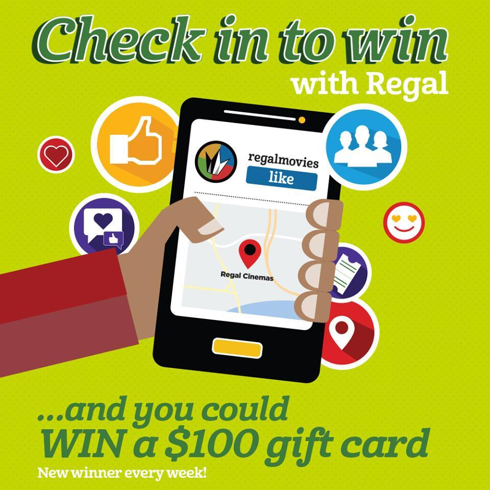 Regal On Twitter Check In On Facebook When At Your Local