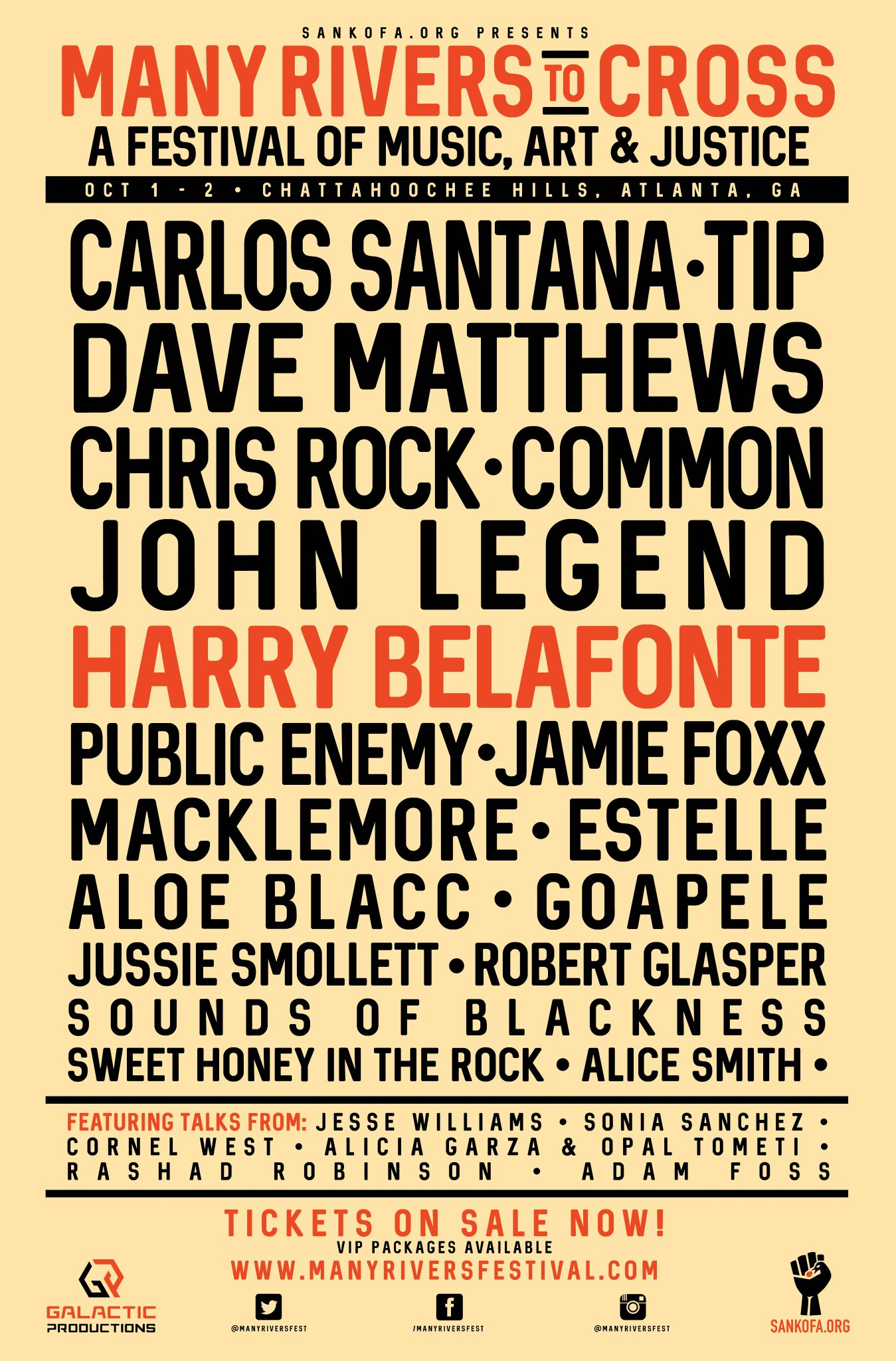 The #ManyRiversFest, a music, art & justice festival in ATL looks amazing. The movement is strong...what a line-up! https://t.co/QPGrNP1Z5l
