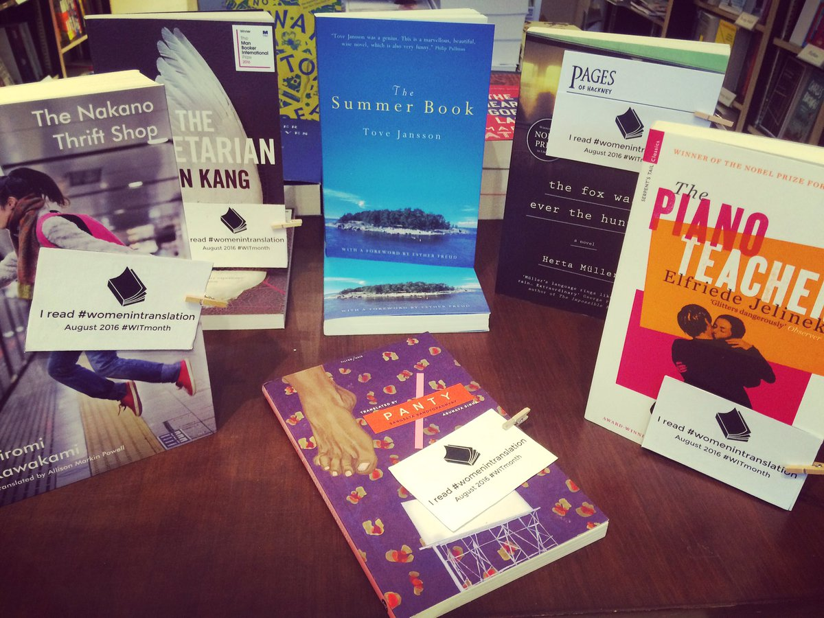 Did you know that only 1/4 of books in translation are written by women? Celebrate #WomeninTranslation month here!✊ https://t.co/NdmbftN7iP