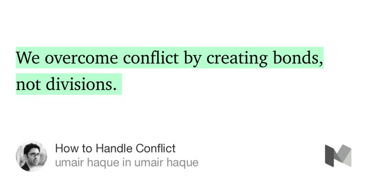"""""""We overcome conflict by creating bonds, not divisions. """"—@umairh https://t.co/Ruqj51IBxy https://t.co/lvN5uEaVMa"""