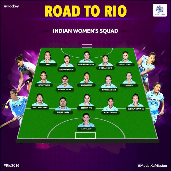 Know your team .. way to go girls #Rio2016 #RioOlympics @TheHockeyIndia https://t.co/UwJqVUaDfV