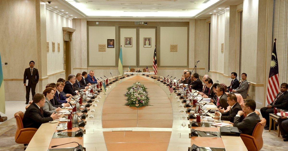 Украина и Малайзия подписали соглашение о недопущении двойного налогообложения