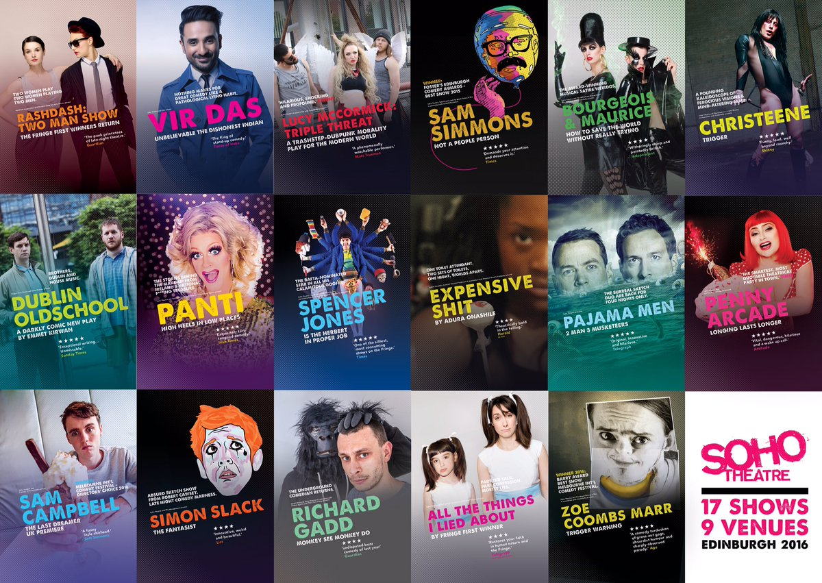 We made this. It's happening right now. And we're really freakin' proud of it. Get in with #SohoOnTour #edfringe https://t.co/EHKiY1WzDU