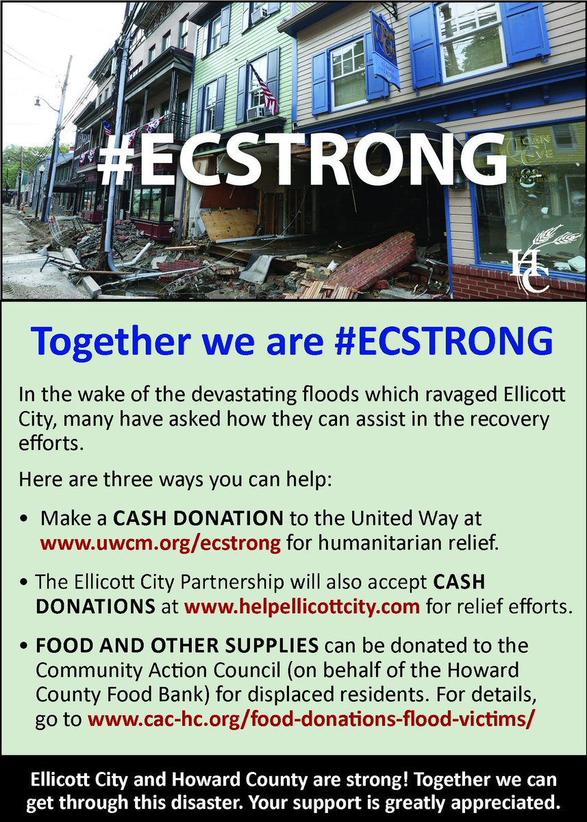 Information on donations: #HoCoMD #ECStrong https://t.co/F7eUMBP1rq