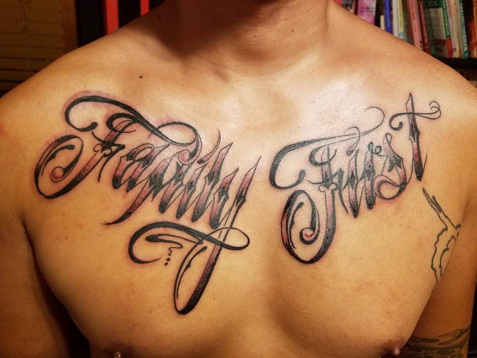 "Josh Custom Tattoos On Twitter: ""Chest Piece......Family"