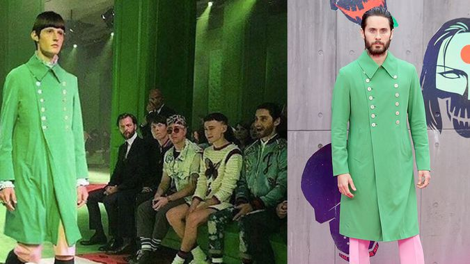 dfeb41995d3e jared leto followed his dreams and bought a green gucci jacket