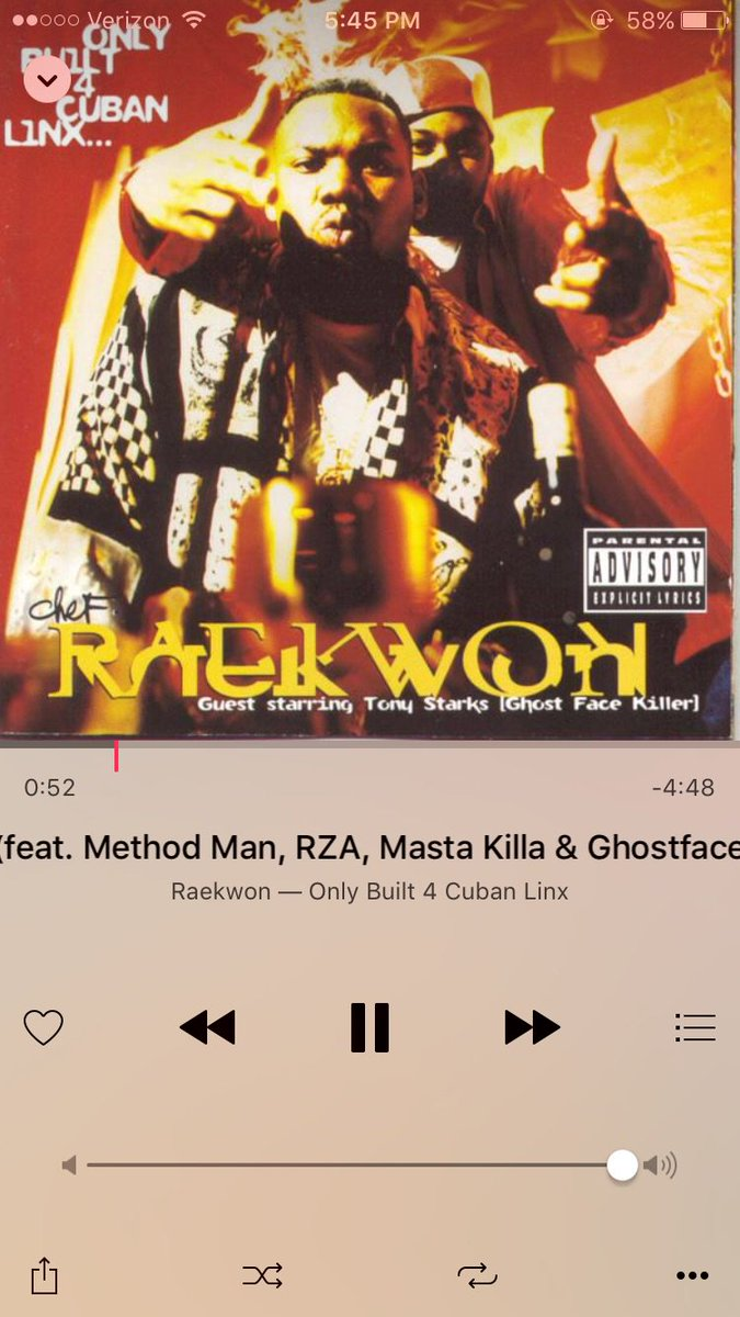 In My Zone. Listening To Some Classics @Raekwon https://t.co/yRF8m0gerf