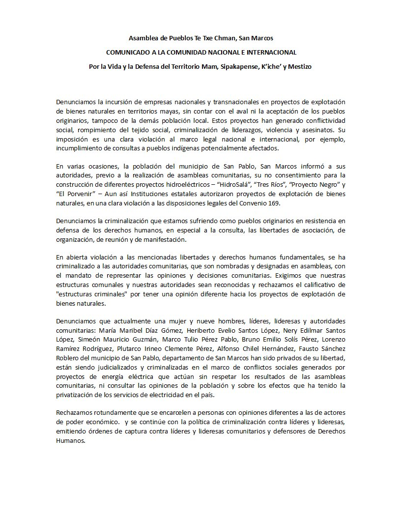 Prensa Comunitaria Km. 169   Comunicación desde los pueblos en Guatemala