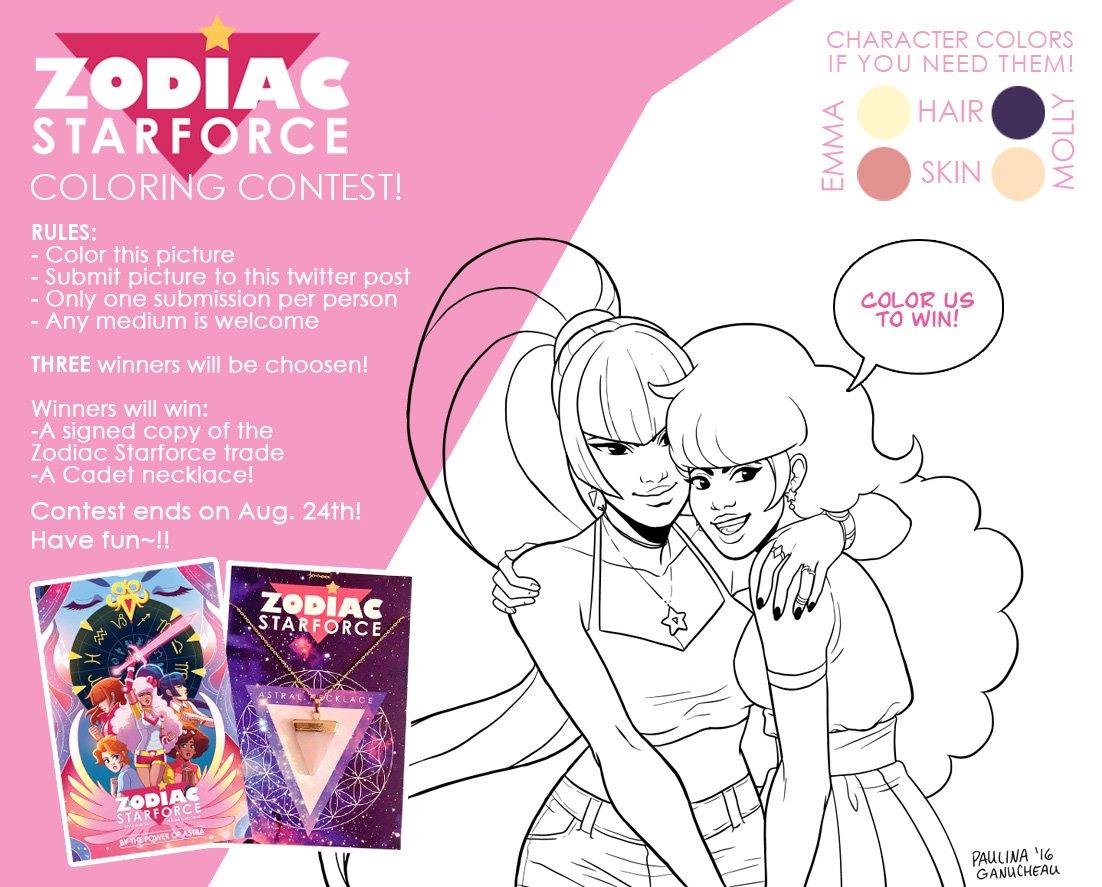 paulina ganucheau on twitter zodiac starforce coloring contest