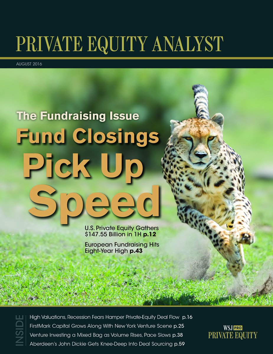 A preview of this month's Private Equity Analyst: The Fundraising Issue https://t.co/VLi0hNf6tc