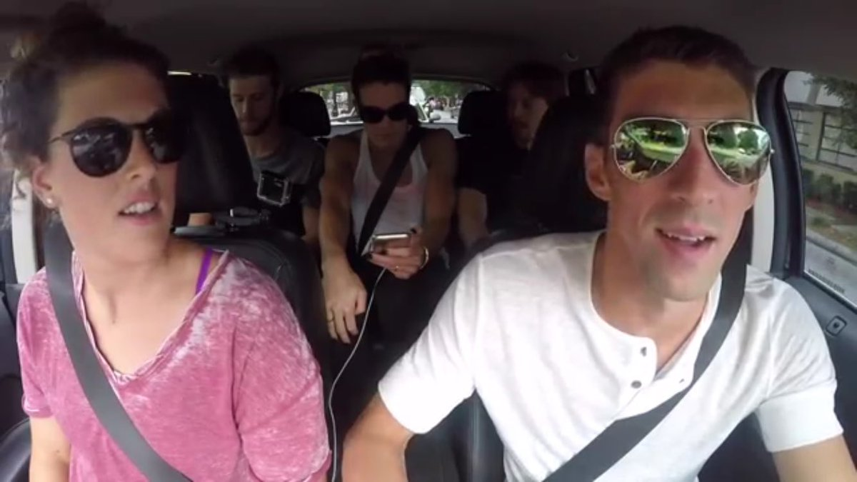 Here we go! Watch #TeamUSA  having fun doing #CarpoolKaraoke #SwimUnited #FunnestSport https://t.co/L2PhVnLedj https://t.co/DvVr0bYNDS