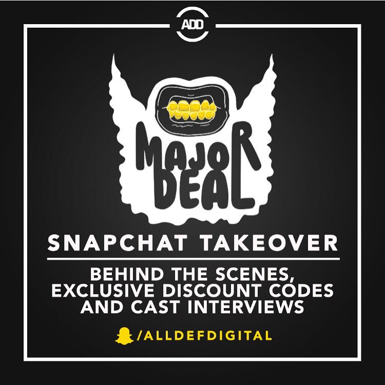 RT @AllDefDigital: Only 3 hours until we're live at the #MajorDealMovie red carpet 🔥 add our snap to see it go down ➡️ @alldefdigital https…