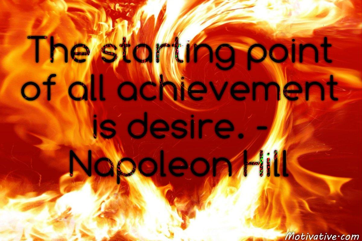 The starting point of all achievement is desire. #JoYTrain #SuccessTRAIN #Motivation #success  RT @LarryWentz