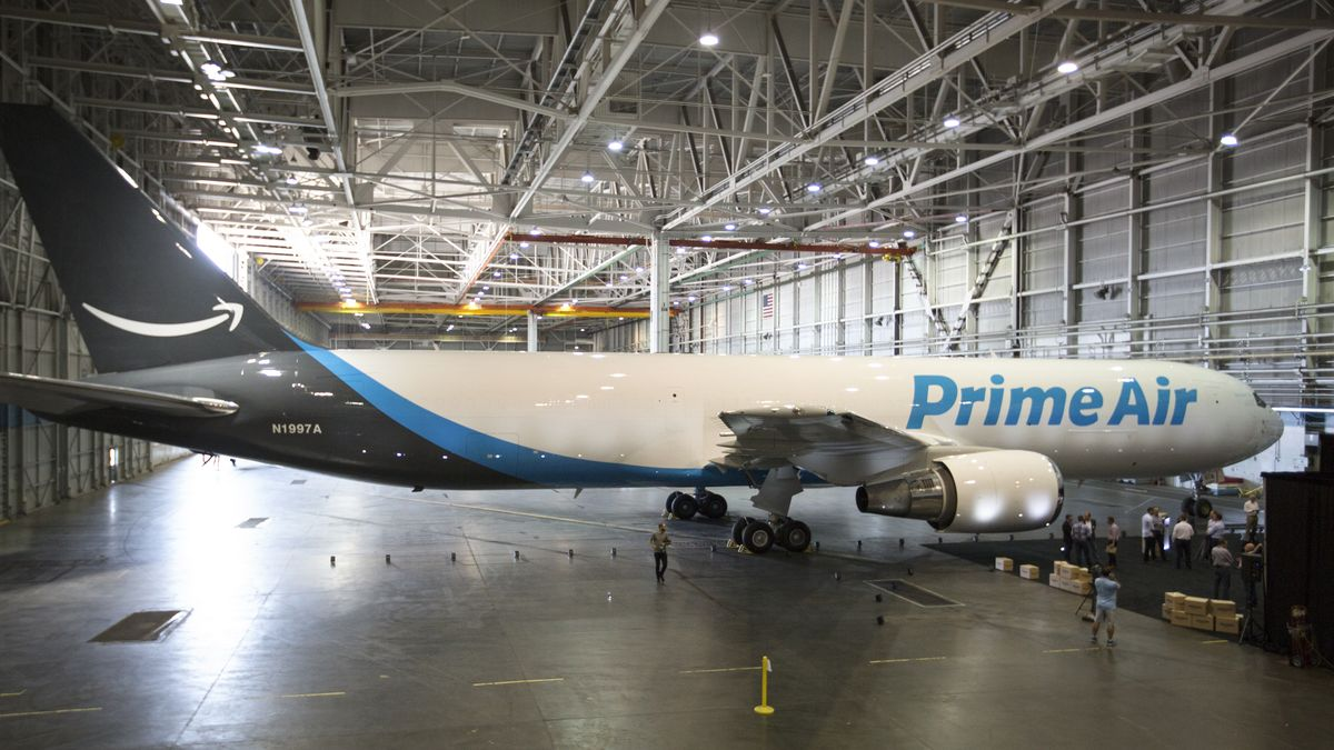 This is Amazon's first 'Prime Air' plane https://t.co/vI9OfhxckE https://t.co/pCQ78E6EiT