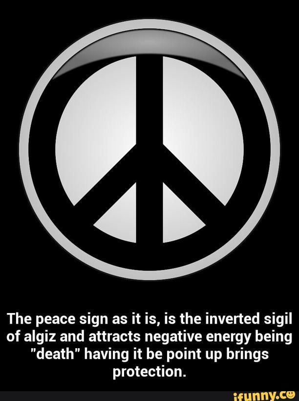 Woken Jashin Chan On Twitter The Peace Symbol Is The