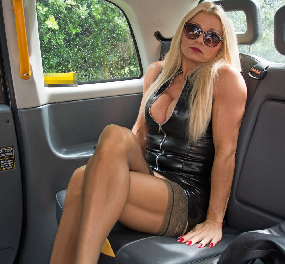 Female fake taxi sexy male stripper cums in her mouth - 1 part 6