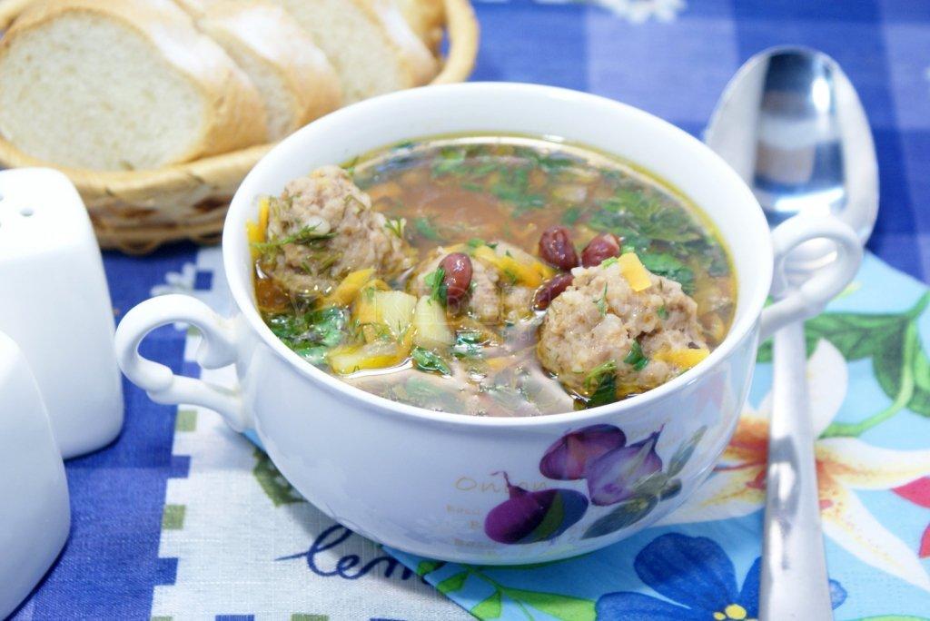 Фасолевый суп с фрикадельками рецепт с фото