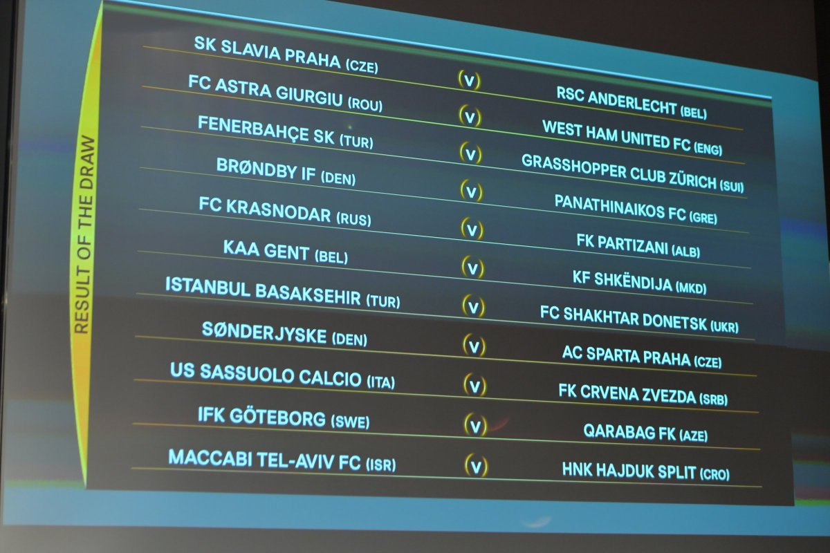 The official result of the #UELdraw... Here are your #UEL Play-offs! h...