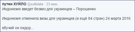 Индонезия решила ввести безвизовый режим для граждан Украины, - Порошенко - Цензор.НЕТ 2264