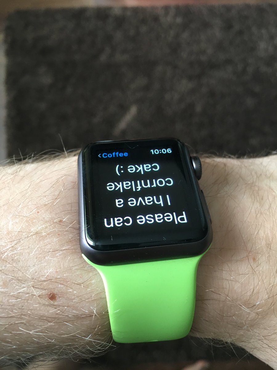 I can't speak, at the local cafe my apple watch is, how I order, how I pay, and what I listen too in the queue #a11y https://t.co/5upCN1mYbc
