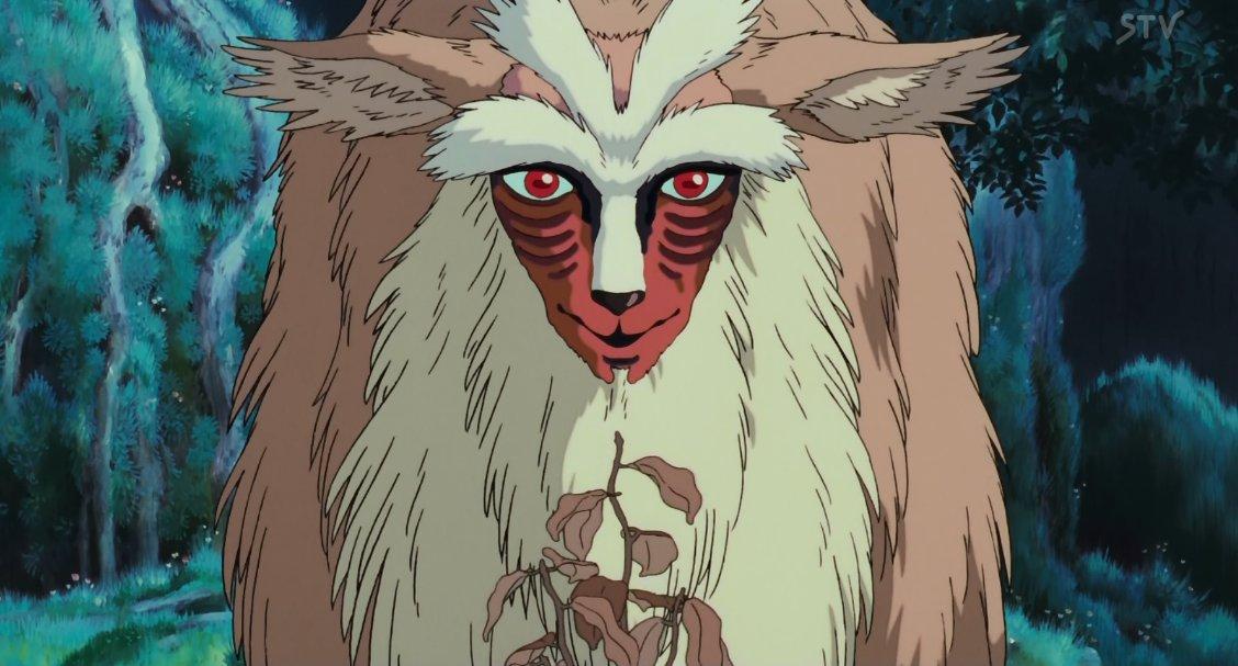 シシ神様の何が怖いって、ベースは草食動物なのに目が真正面についてることなんだよね。目が正面にある生物は視野の関係で目の前の生物の距離感が測りやすくて、つまり「獲物へ距離をつめやすい」んだ。殺すためのデザインなんだよ草食動物のくせに