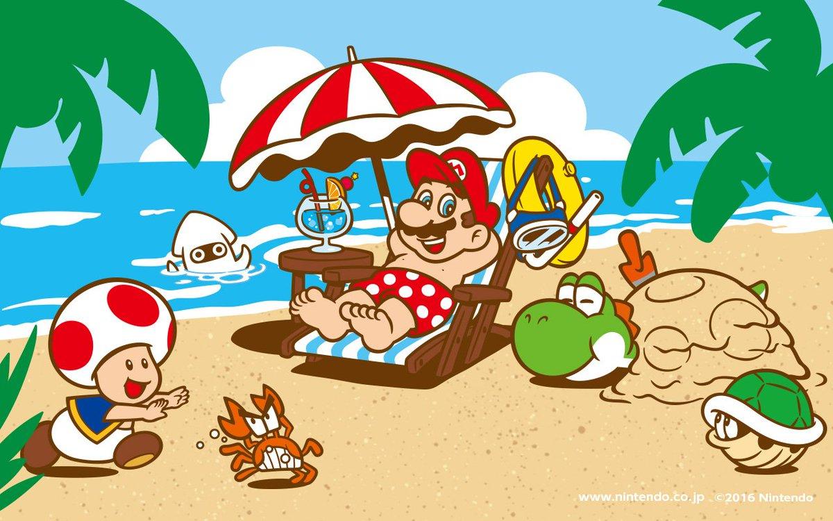 Nintendo releases summer wallpaper for PC and smartphones | GoNintendo