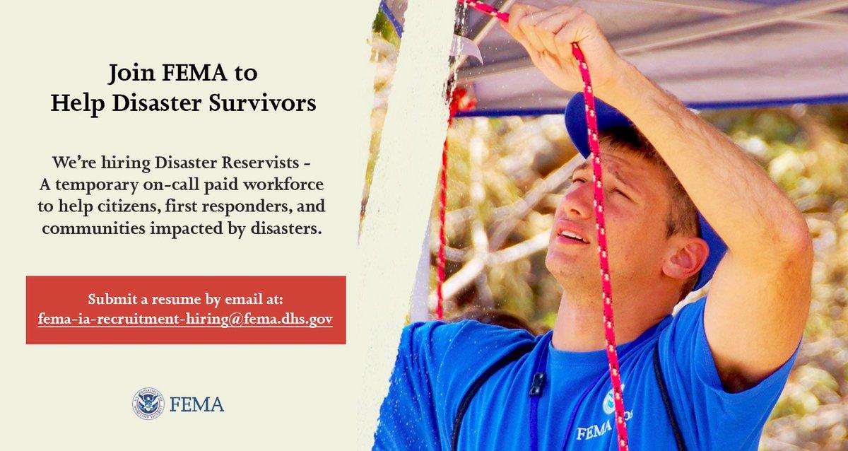 fema disaster reservist resume