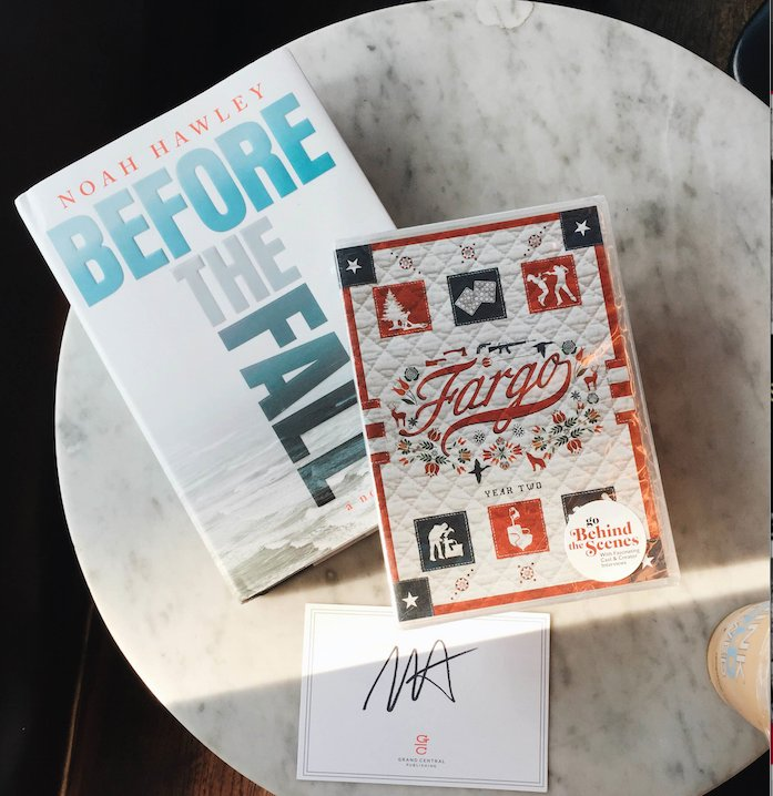 Retweet for a chance to win a copy of #BeforeTheFall w/bookplate signed by @noahhawley and season 2 of @FargoFX! https://t.co/K6IKDMOyKZ
