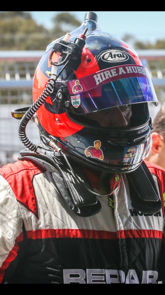 Everyone ok but suffered a home break-in. Many personal racing items stolen, this helmet used in @IMSA & @supercars https://t.co/Fm841EBZ9O