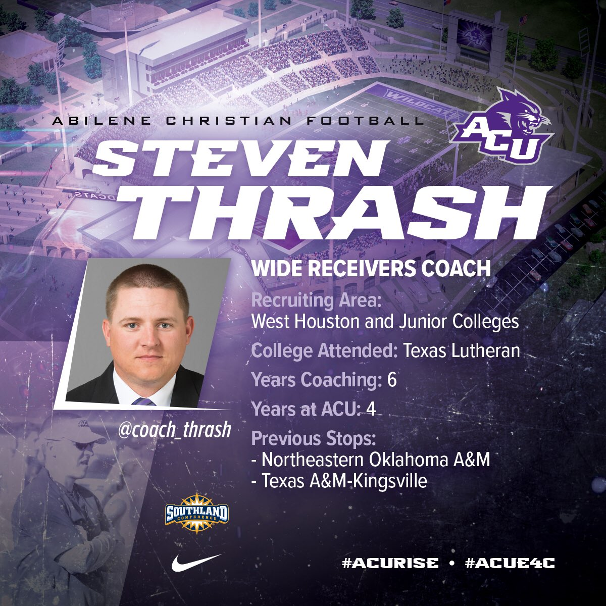 Acu Football On Twitter Fastfacts On Wide Receivers Coach Steven