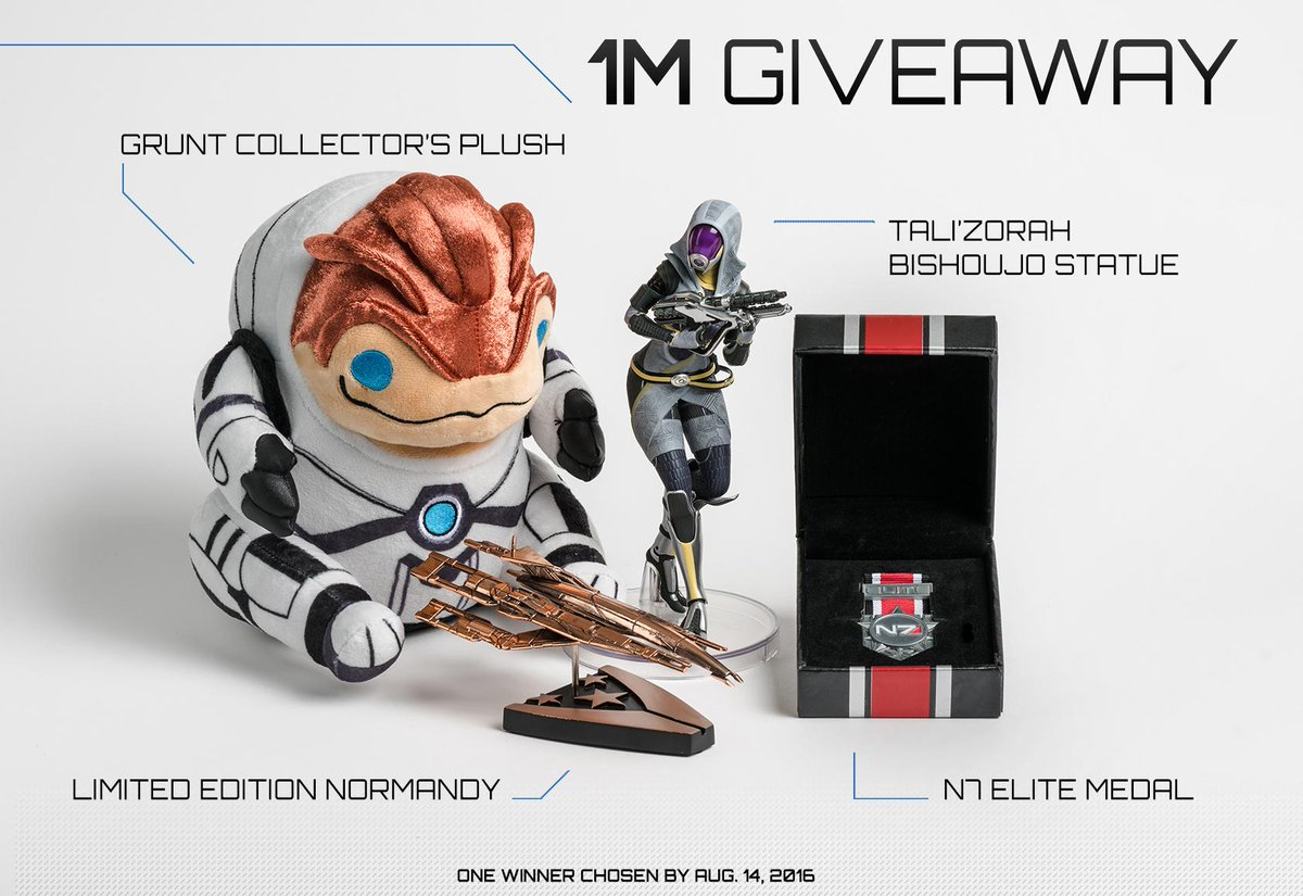 Next up we have some shiny, shiny Mass Effect merch. RT to enter. https://t.co/d6KHbgzSzd