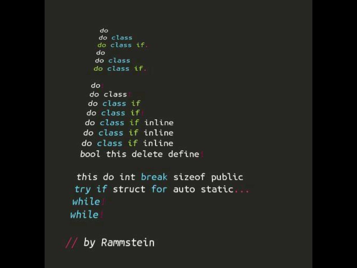 What if Rammstein were programmers? #FridayFunnies https://t.co/RrAiyb3OxJ