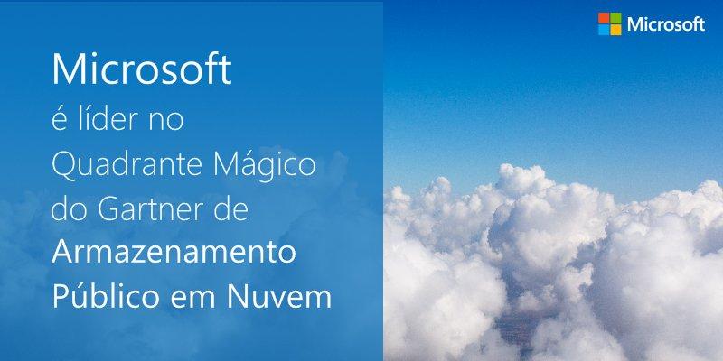 Pelo 3º ano consecutivo, #Azure é líder em Infraestrutura de Nuvem como Serviço pelo Gartner https://t.co/e3twKYcwJa