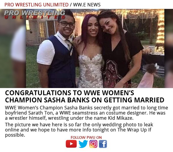 Sasha Banks Wedding.Sasha Banks Is Now A Married Woman Sherdog Forums Ufc Mma