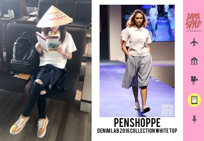 8c46c178f [SNS Update] 160805 - #Dara's Instagram post wearing: @PENSHOPPE Denim Lab  2016 Collection White Top & Ripped Jeanspic.twitter.com/PvZM45oCdn